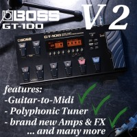 The BOSS Flagship FX-pedal: the new Guitar-to-midi-feature opens the gate to the next dimension.