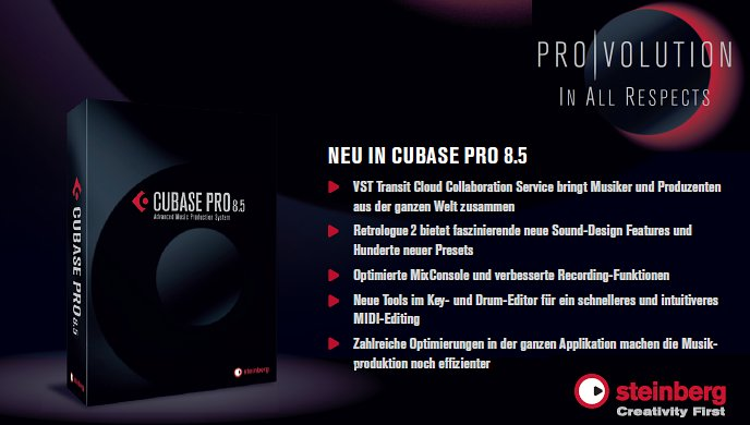 Cubase Pro 8.5 - jetzt lieferbar - New Features!