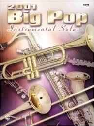 Alfred Big Pop Instrumental Solos Songbooks for Saxophone