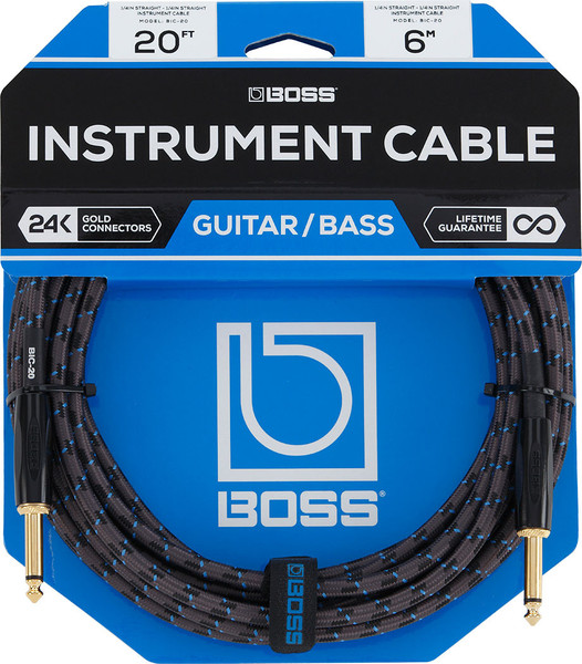 Boss BIC-20 Instrument Cable Instrument Cables 5-10m