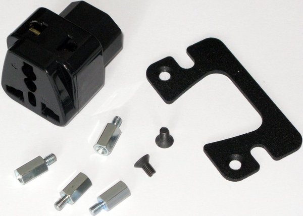 Cioks Mains Adapter IEC C14 to Universal Mains Socket (incl. mounting kit) Pedalboard Accessories