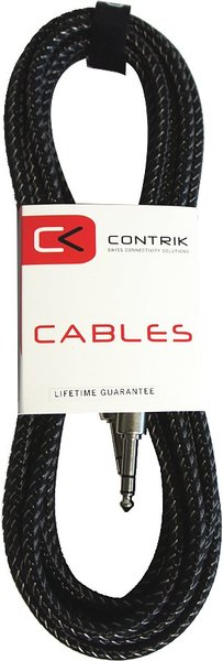 Contrik NMK PP3T -GR Retro Stereojack Cable (6m) Stereo Instrument Cables 5-10m