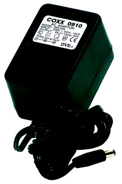 Coxx 0910 (9V DC / 1000mA / center +) Other Voltage Positive Center DC Power Adapters