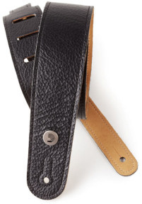 D'Addario 20GL00 Garment Leather Strap (Black) Gitaarbanden