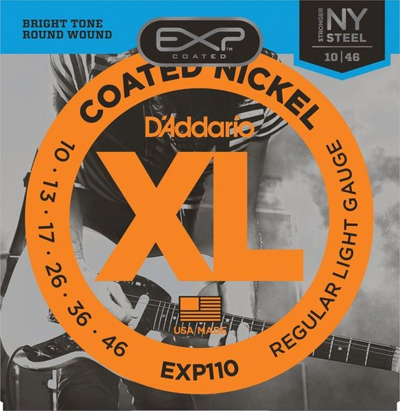 D'Addario EXP110 Regular Light / 010-046 E-Gitarren Saitensatz .010
