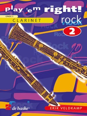 De Haske Play'em right Rock Vol 2 Veldkamp Erik Songbooks for Clarinet