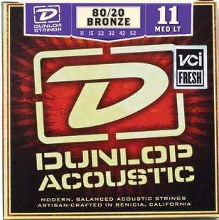 Dunlop Acoustic 80/20 (Medium Light 011-052)