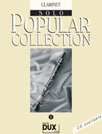 Dux Popular Collection Vol 2 Songbooks for Clarinet