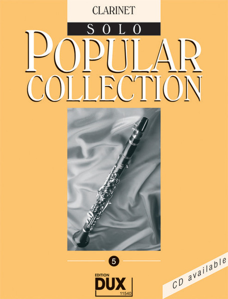 Dux Popular Collection Vol 5 Songbooks for Clarinet