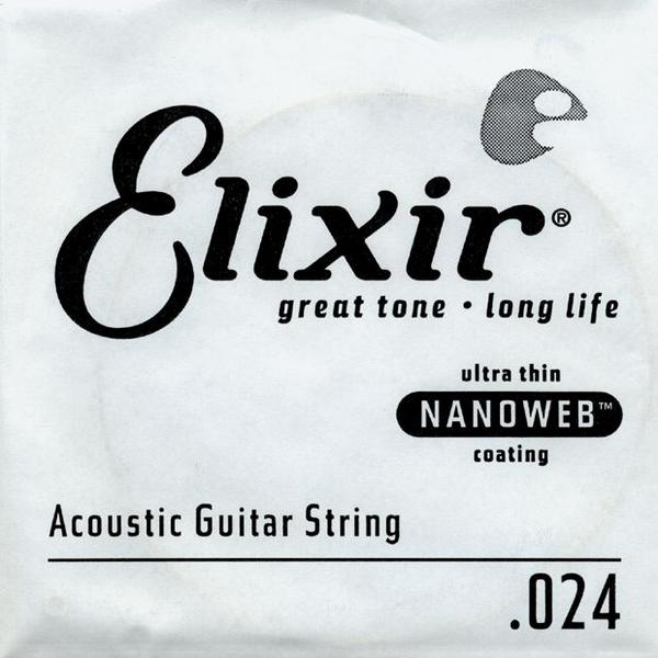 Elixir NanoWeb Ac.Guitar Single String Phosphor Bronze (.024)