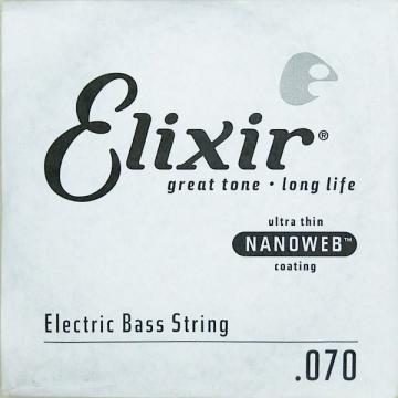 Elixir NanoWeb El.Bass Single String Long Scale (.070)