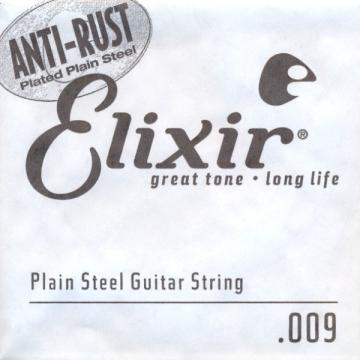 Elixir NanoWeb El.Guitar Single String Plated Plain Steel (.009)