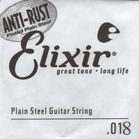 Elixir NanoWeb El.Guitar Single String Plated Plain Steel (.018)
