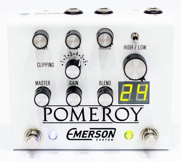 Emerson Custom Pomeroy Boost, Overdrive & Distortion Pedal (white)