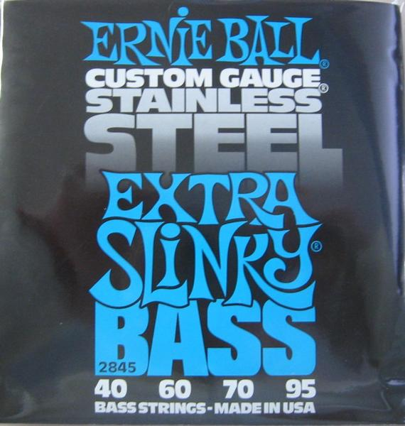 Ernie Ball 2845 Extra Slinky 4-String Electric Bass String Sets .040