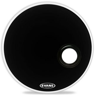 "Evans BD22REMAD EMAD Bass Reso (Black) 22"" Bass Drum Resonant Heads"