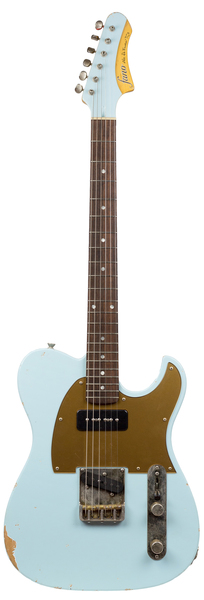 Fano Guitars TC6 (sonic blue medium distress) E-Guitar Modelos T