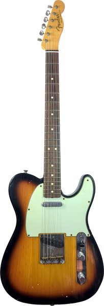 Fender 60's Duo Tone Telecaster Relic (Faded 3-Tone Sunburst) Guitare électrique modèle T