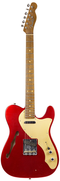 Fender 50's Thinline Telecaster C.C. Masterbuilt (Candy Apple Red) E-Guitar Modelos T