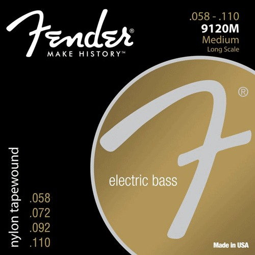 Fender 9120M Medium Long Scale 4-String Electric Bass String Sets .055