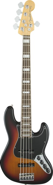 Fender American Elite Jazz Bass V EB 3TBS (three tone sunburst) 5-String Electric Basses