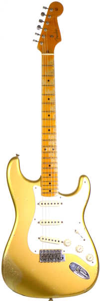 Fender LTD 1957 Stratocaster - Heavy Relic (aged aztec gold over gold sparkle) Guitarra Eléctrica Modelos ST