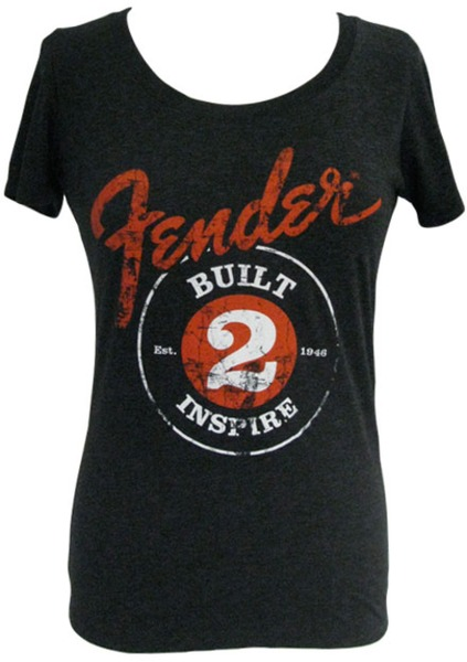 Fender Ladies Built 2 Inspire T-Shirt (Medium) T-Shirts Size M