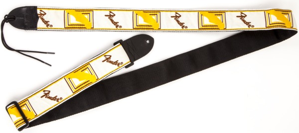 Fender Monogrammed Strap (white/brown/yellow) Remeni za Gitare