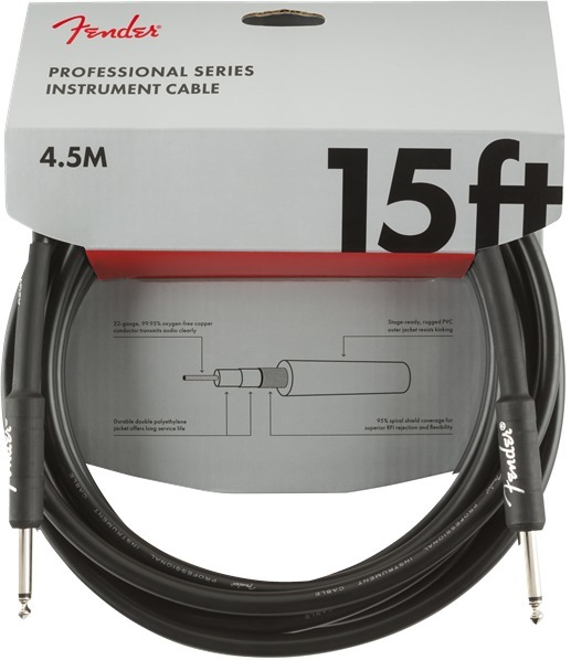 Fender Professional Instrument Cable (15'/4.5m; straight-straight)