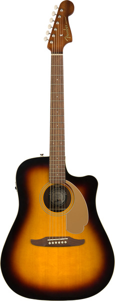 Fender Redondo Player (sunburst) Guitarra Western, com Fraque e com Pickup