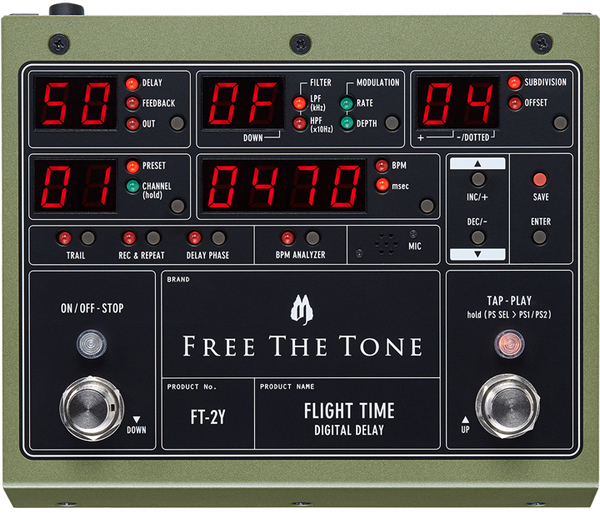 Free The Tone Flight Time Digital Delay Mk2 Occasion FT-2Y