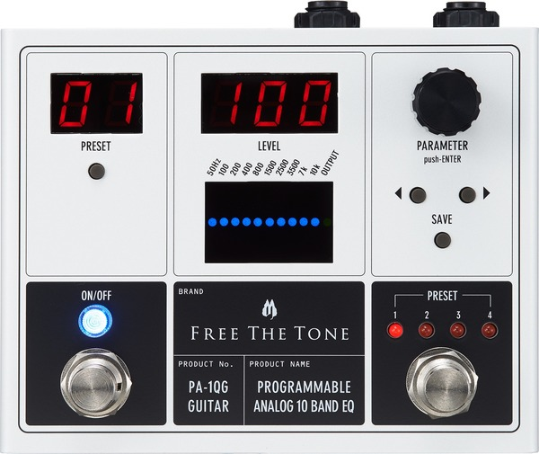 Free The Tone PA-1QG Programmable Analog 10 Band EQ (electric)