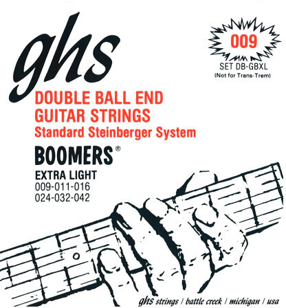 GHS DB GBL Double Ball End Boomers (extra light) Double Ball-End Saiten für elektrische Gitarre