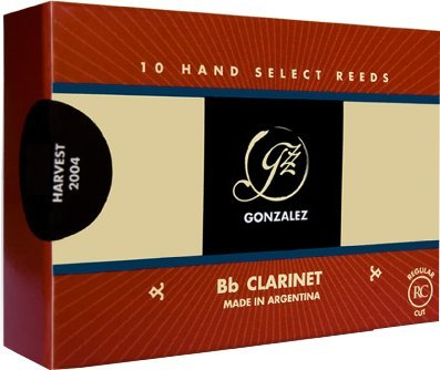 Gonzalez (Regular Cut) Bb Clarinet Reeds 2 Boehm