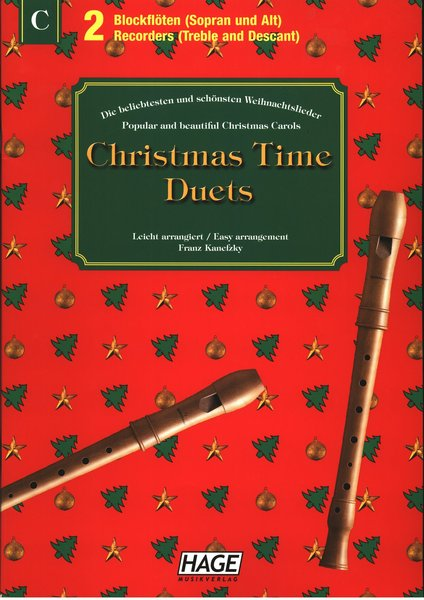 Hage Nürnberg Christmas time Duets Songbooks for Recorder
