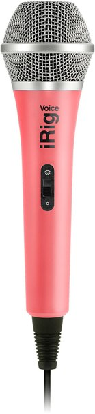 IK Multimedia iRig Voice (pink) Microphones for Mobile Devices