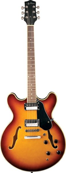 Jay Turser JT-133 (Tobacco Suburst) Semi-Hollowbody Electric Guitars