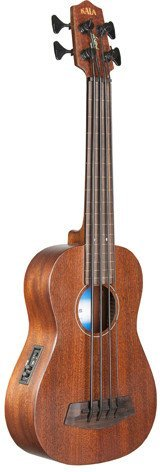Kala SMHG-FL Ubass Mahogany (fretless with lightcase) Bass-Ukulele
