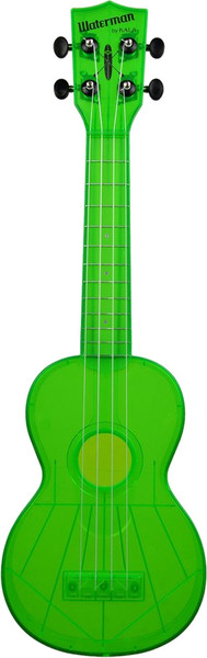 Kala Waterman Fluorescent (sour apple green) Sopran-Ukulele