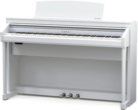 kawai ca 67 premium white satin musix ch. Black Bedroom Furniture Sets. Home Design Ideas