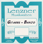 Lenzner D4 (D) Banjo Guitar Single Strings