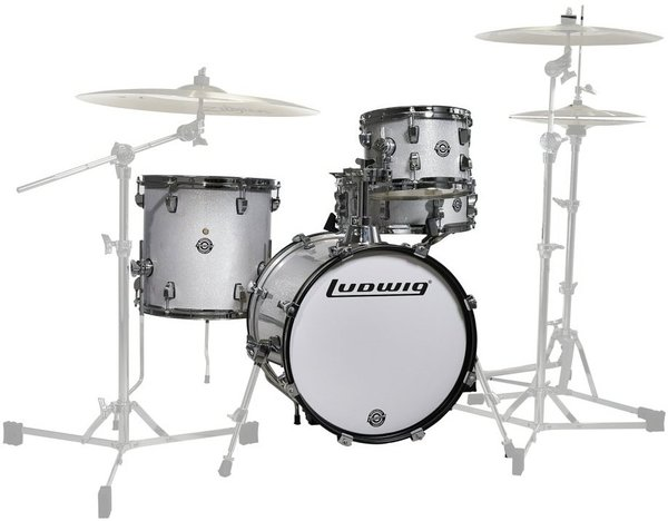 "Ludwig Breakbeats by Questlove (White Sparkle) Acoustic Drum Set up to 16"" Bass"