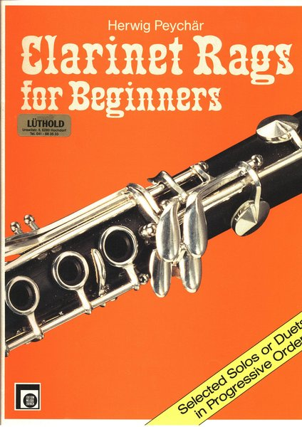 Melodie Edition Clarinet Rags for beginners Herwig Peychär Textbooks for Clarinet