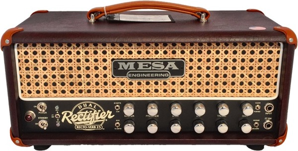 Mesa Boogie Recto-Verb 25 Head (Custom Finish Wine/Wicker) Glave za Gitarska Pojačala