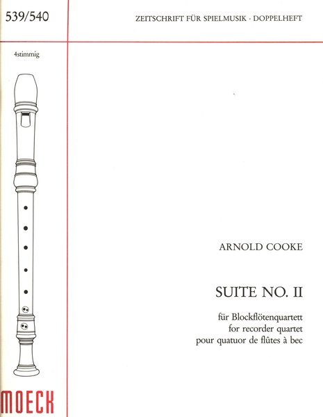 Moeck Suite n.II Arnold Cooke Songbooks for Recorder