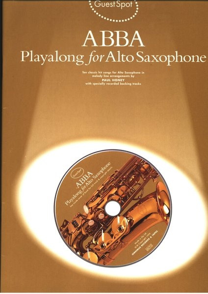 Music Sales Abba Playalong for Alto Saxophone Songbooks for Alto Saxophone