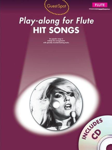 Music Sales Play-Along Hit Songs for Flute Songbooks for Flute