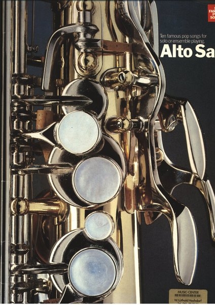 Music Sales Ten famous pop Songbooks for Saxophone