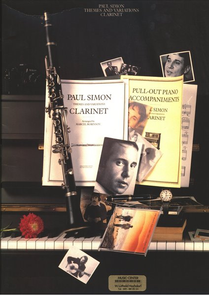 Music Sales Themes and variations Clarinet Paul Simon Textbooks for Clarinet