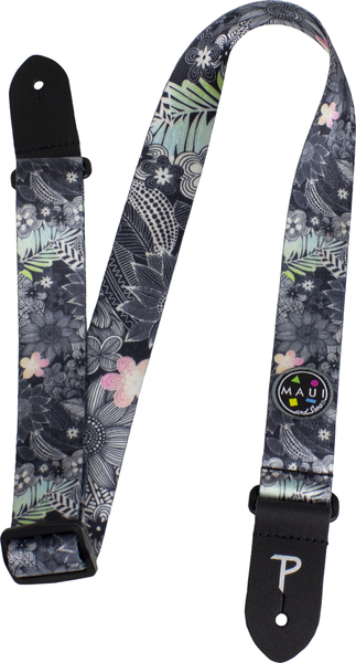Perri's 1.5' Maui and Sons Printed Seatbelt Uke Strap (hidden garden) Gitarren-Gurte